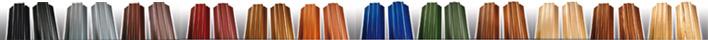 Цветовая гамма металлического штакетника для забора