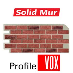 Сайдинг ПВХ (Solid Mur) под кирпич
